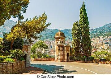 Monte Carlo Park Gate. Monaco Architecture. Europe.