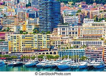 Monte Carlo Urban Scene. Monaco, Europe. Monte Carlo Marina...