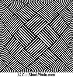 Op art textured background. Checked pattern. - Op art...