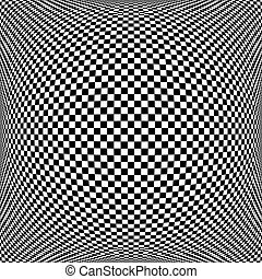 Op art chequered pattern. Textured background. - Op art...