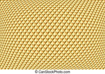 Golden geometric pattern Abstract textured background Vector...