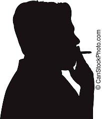 smoking man silhouette