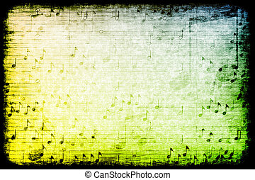 Music Themed Abstract Grunge Background - A Music Themed...