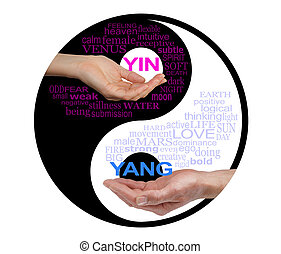 Together We are Stronger - a yin yang black and white symbol...