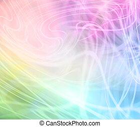 Rainbow Colored Background - Transparent random swirling...