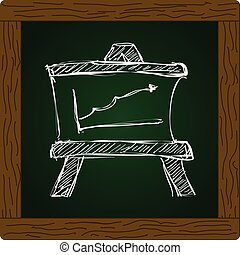 Simple doodle of a blackboard