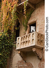 Juliets Balcony - Famous balcony on the house in Verona...
