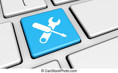Computer Service Work Tool Icon - Computer repair service...