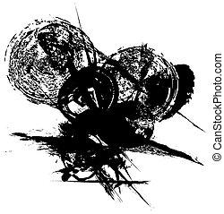 black ink splash background