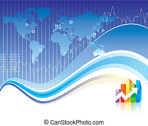 Global Finance design of vector illustration layered