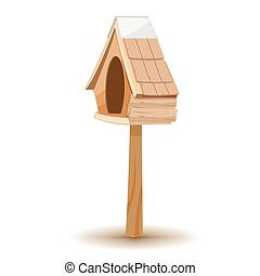 Oak Wood Small Old House Vector