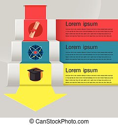Education Stair Template Info Graphic Vector