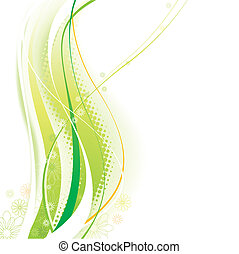 Green Elements background of vector illustration layered