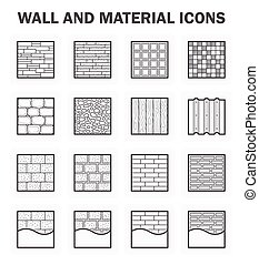 Wall icon sets - Wall and material icon sets
