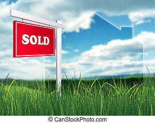 Real Estate Sign - Sold 2D artwork Computer Design