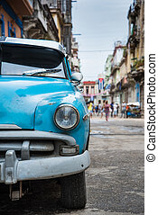 Old american car on street in Havana,Cuba