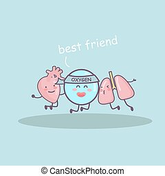 Best friend by lung, heart and oxygen, great for health care...