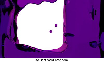 violet liquid fills up screen, with alpha channel FULL HD