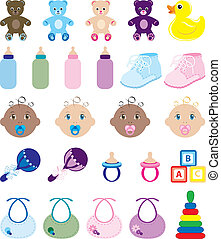 Baby Icons - Vector Illustration of 25 baby isolated icons.