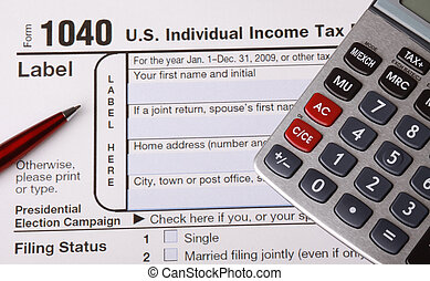 Tax 1040 Form Close Up