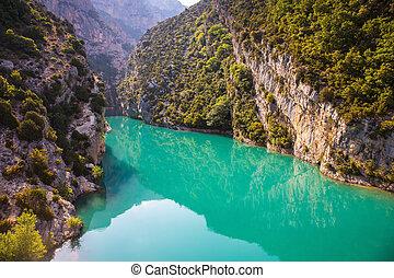 Spring mountain canyon in Europe - Verdon - Spring Provence...