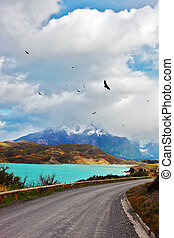 The road around lake - Beautiful Patagonia The road around...