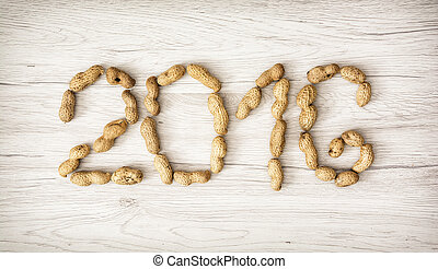 PF 2016 made from the peanuts. Happy New Year 2016.