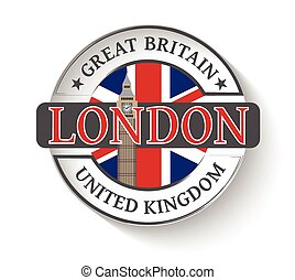 Sticker with London - Sticker with the City of London and...