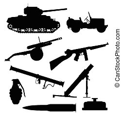 Weapons Of War - A collection of typical weapons of war in...