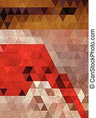 Red and brown triangles background antique style
