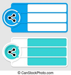 Colored boxes for your text and share icon