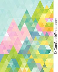 Fresh green abstract triangle background