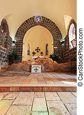 The interior of the church - The Church of Primacy - Tabgha....