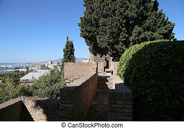 Alcazaba castle on Gibralfaro mountain
