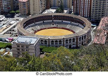 vue, de, Malaga, à, les, place, de, Toros,...