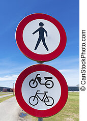 traffic signs - double traffic signs forbidden for...