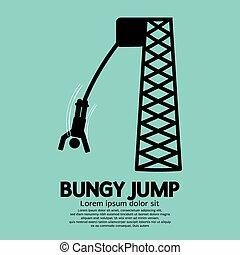 Bungy Jump - Bungy Jump Black Symbol Vector Illustration