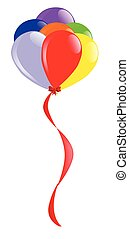 Flyaway Balloons - A colorful arrangement of balloons flying...
