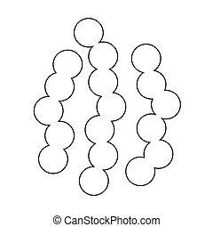 virus bacteria icon Illustration design