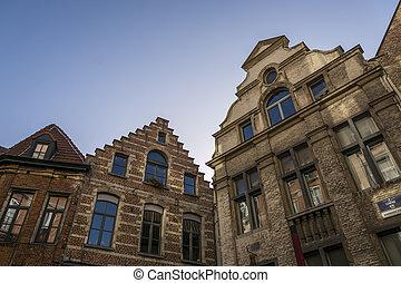 Typical Flemish Belgium buildings - Typical Flemish Belgium...