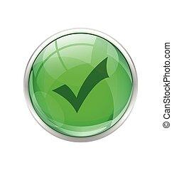 Green okay button