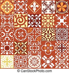 Middle Ages Square2 - Vector Illustration of Moroccan tiles...