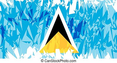 Flag of Saint Lucia - Flag of Saint Lucia in grunge style...