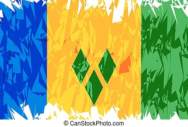 Flag of Saint Vincent and the Grenadines. - Flag of Saint...
