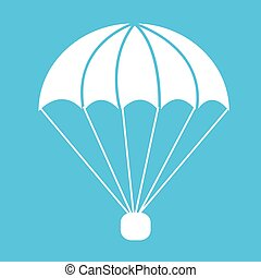 parachute icon Illustration symbol design
