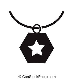 Necklace Icon Illustration synbol design