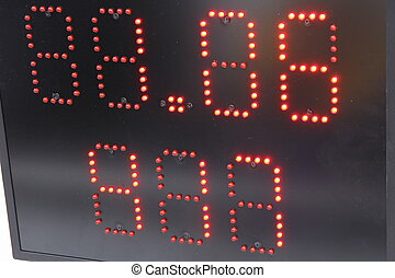 Electronic display for information in sports black.