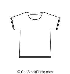 Blank Tshirt Icon Illustration sign design
