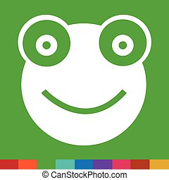 Frog Icon Illustration sign design