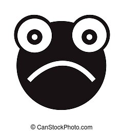Frog emotion Icon Illustration sign design